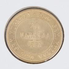 Kultaraha, 20 mk 1880