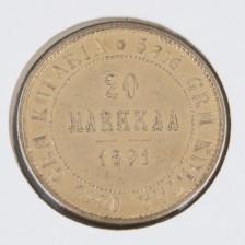 Kultaraha, 20 mk 1891
