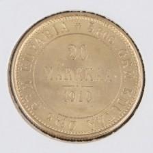Kultaraha, 20 mk 1910