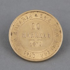 Kultaraha, 20 mk 1879
