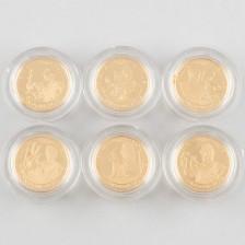 Kultarahoja 6 kpl, Englanti 25 £ 2010-2012