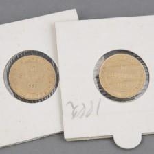 Kultaraha  2 kpl, 10 mk 1882