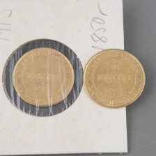 Kultarahoja, 2 kpl, 10 mk 1913