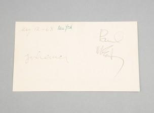 Paul McCartneyn ja John Lennonin nimikirjoitukset 12.5.1968