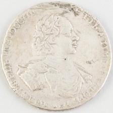 Hopearaha, Venäjä rupla 1722
