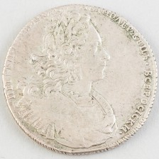 Hopearaha, Venäjä rupla 1727
