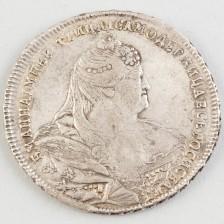 Hopearaha, Venäjä rupla 1740