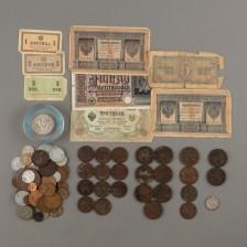 Erä sekalaisia ulkomaisia rahoja