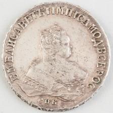 Hopearaha, Venäjä, rupla 1749 СПБ
