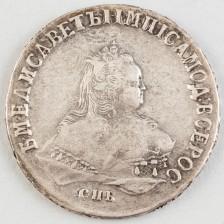 Hopearaha Venäjä, rupla 1751 СПБ