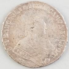 Hopearaha Venäjä, rupla 1751 ММД-А
