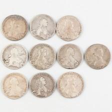 Hopearahoja, 10 kpl, Venäjä rupla 1762-1773