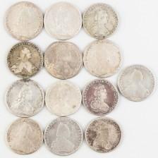 Hopearahoja, 13 kpl, Venäjä rupla 1774-1793